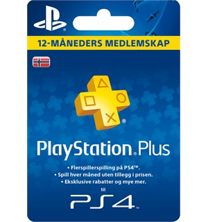 PlayStation Plus Abonnement 1 year 12 måneders medlemskap Playstation Plus