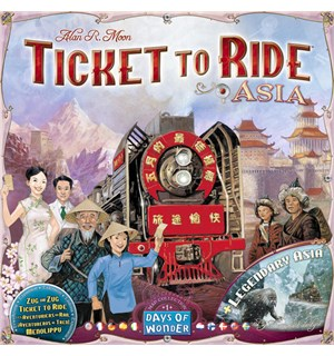 Ticket to Ride Map Coll 1 Asia Tilleggspakke til Ticket to Ride/Europe