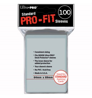 Innersleeves Pro-Fit Klar x100 64x89 Ultra-Pro Kortbeskytter/DeckProtect