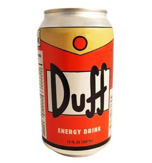 Simpsons Duff Energy Drink 3,5dl - Appelsinsmak