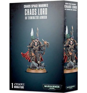 Chaos Space Marines Chaos Lord Terminato Warhammer 40K - In Terminator Armour