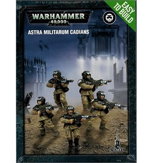 Astra Militarum Cadians 5 x (ETB) Warhammer 40K - Easy to build