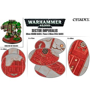 Sector Imperials 60 Round,75+90mm Oval 60 mm Round+70&90 mm Oval Bases x6