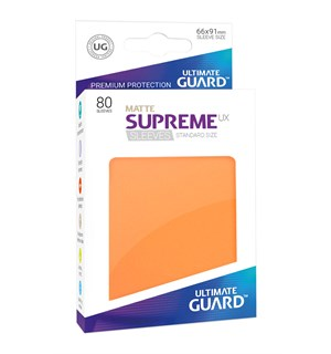 Sleeves Matte Oransje 80 stk 66x91 Ultimate Guard Kortbeskytter/DeckProtect