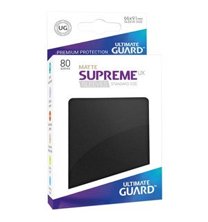 Sleeves Matte Svart 80 stk 66x91 Ultimate Guard Kortbeskytter/DeckProtect