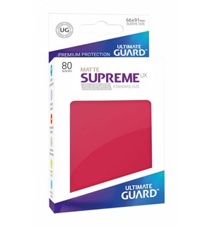 Sleeves Matte Rød 80 stk 66x91 Ultimate Guard Kortbeskytter/DeckProtect