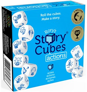 Rorys Story Cubes Actions Engelsk Kan også spilles med Rory Story Cubes