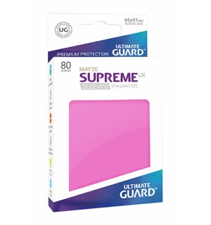 Sleeves Matte Rosa 80 stk 66x91 Ultimate Guard Kortbeskytter/DeckProtect