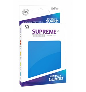 Sleeves Supreme Blå x80 66x91 Ultimate Guard Kortbeskytter/DeckProtect