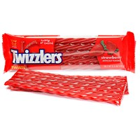Twizzlers Twists Strawberry 70g Den amerikanske røde lakrisen