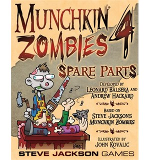Munchkin Zombies 4 Spare Parts Utvidelse til Munchkin Zombies Kortspill