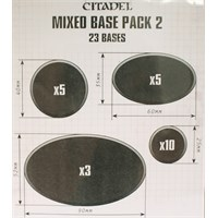 Citadel Mixed Base Pack 2 - 23 stk baser Round 25+40 mm, Oval 60x35+90x52mm