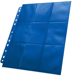 Plastlomme 18-Pocket Side Load Blå 50stk Ultimate Guard - Passer Double Sleeve