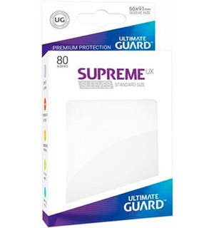 Sleeves Supreme Hvit x80 66x91 Ultimate Guard Kortbeskytter/DeckProtect