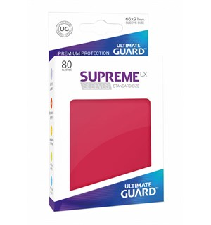 Sleeves Supreme Rød x80 66x91 Ultimate Guard Kortbeskytter/DeckProtect