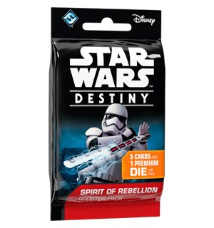 Star Wars Destiny Rebellion Booster Spirit of Rebellion - 5 kort + 1 terning