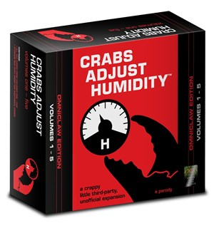 Crabs Adjust Humidity Omniclaw Edition Uoffisielle utvidelse 1-5 Cards Against