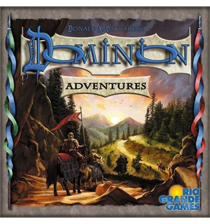Dominion Adventures Brettspill Utvidelse Expansion til Dominion