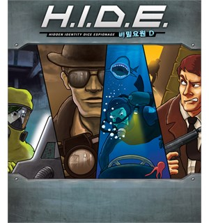 HIDE Brettspill Hidden Identity Dice Espionage