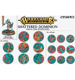Shattered Dominion Round Base 25+32mm Warhammer Age of Sigmar
