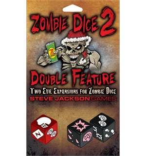 Zombie Dice 2 Double Features Exp Utvidelse til Zombie Dice Terningspill