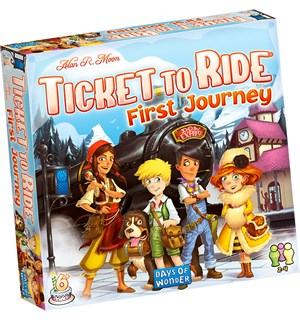Ticket to Ride First Journey Brettspill Norske regler - euroepisk kart.