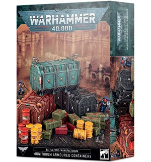 Battlezone Manufactorum Containers Warhammer 40K - Munitorum Armoured