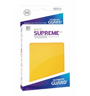 Sleeves Matte Gul 80 stk 66x91 Ultimate Guard Kortbeskytter/DeckProtect