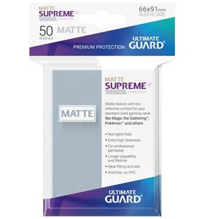 Sleeves Matte Klar 50 stk 66x91 Ultimate Guard Kortbeskytter/DeckProtect