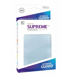 Sleeves Matte Klar 80 stk 66x91 Ultimate Guard Kortbeskytter/DeckProtect