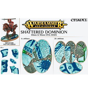 Shattered Dominion Oval Base 60+90mm Warhammer Age of Sigmar