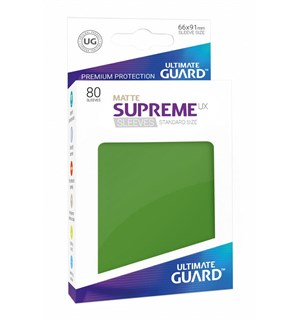 Sleeves Matte Grønn 80 stk 66x91 Ultimate Guard Kortbeskytter/DeckProtect