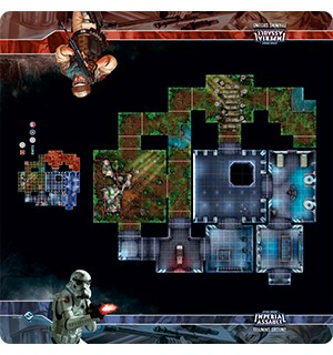Star Wars IATraining Ground Skirmish Map Play Mat Imperial Assault