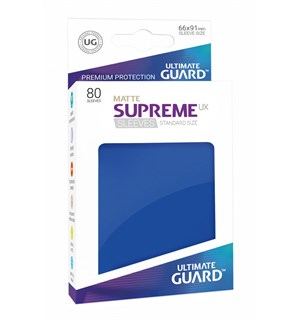 Sleeves Matte Blå 80 stk 66x91 Ultimate Guard Kortbeskytter/DeckProtect