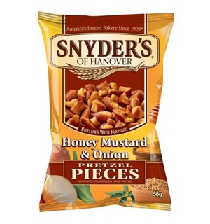 Snyders Honey Mustard & Onion 125g Preztel Pieces