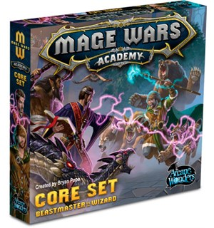 Mage Wars Academy Core Set Brettspill Beastmaster vs Wizard