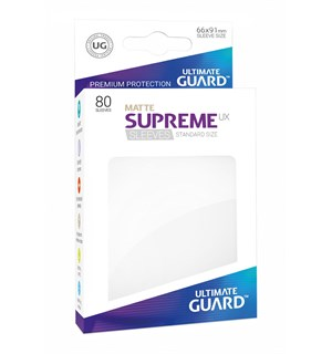 Sleeves Matte Hvit 80 stk 66x91 Ultimate Guard Kortbeskytter/DeckProtect