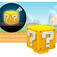 Super Mario Lampe Question Mark - 8 cm Med lyd