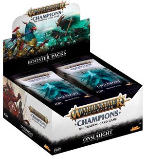 Age of Sigmar TCG Onslaught Display Champions Trading Card Game - 24 booster