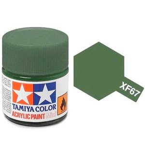 Akrylmaling MINI XF-67 NATO Green Tamiya 81767 - 10ml