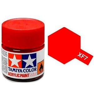 Akrylmaling MINI XF-7 Flat Red Tamiya 81707 - 10ml