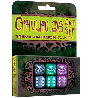 Cthulhu D6 Dice Set - 6 stk 19mm