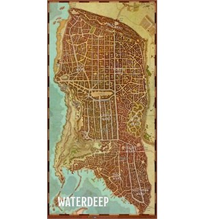 D&D Maps Waterdeep Vinyl Game Mat Dungeons & Dragons Dragon Heist