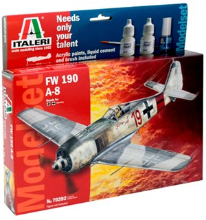 FW-190 A-8 Model Start Set - Komplett Italeri 1:72 Byggesett
