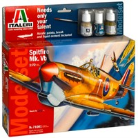 Spitfire Mk Vb Model Komplett Set Italeri 1:72 Byggesett
