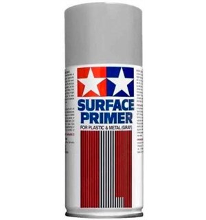 Tamiya Fine Surface Primer L Light Gray 180ml Spray Can Plastic/Metal