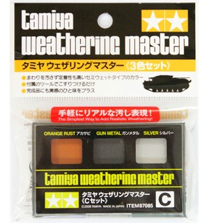 Tamiya Weathering Master C-Set Orange Rust, Gun Metal, Silver
