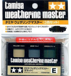 Tamiya Weathering Master E-Set Yellow, Gray, Green