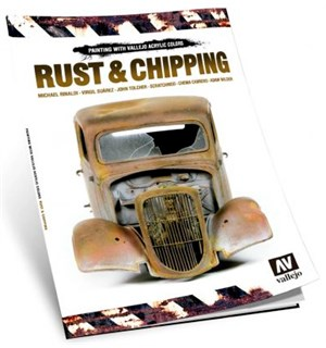 Vallejo Bok Rust & Chipping Guide Bok med detaljerte steg for steg guider