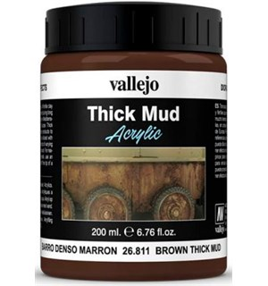 Vallejo Texture Brown Mud 200ml Thick Mud Texture Acrylic